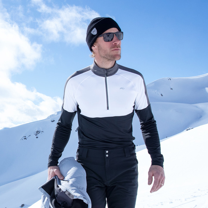 MEN RACE MIDLAYER HALF-ZIP